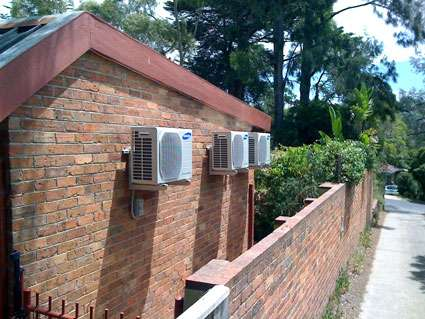 air conditioners on wall bracket