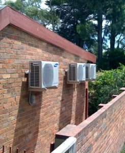 air conditioners on wall brackets