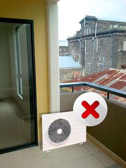 do not mount on balcony