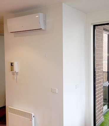 indoor unit internal plaster wall