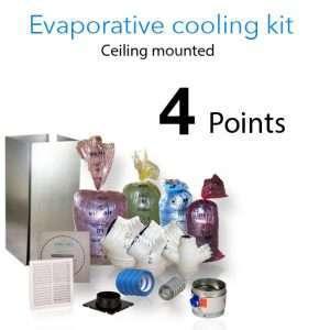 evaporative cooling kit ceiling 4 points