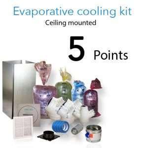 evaporative cooling kit ceiling 5 points