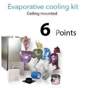 evaporative cooling kit ceiling 6 points
