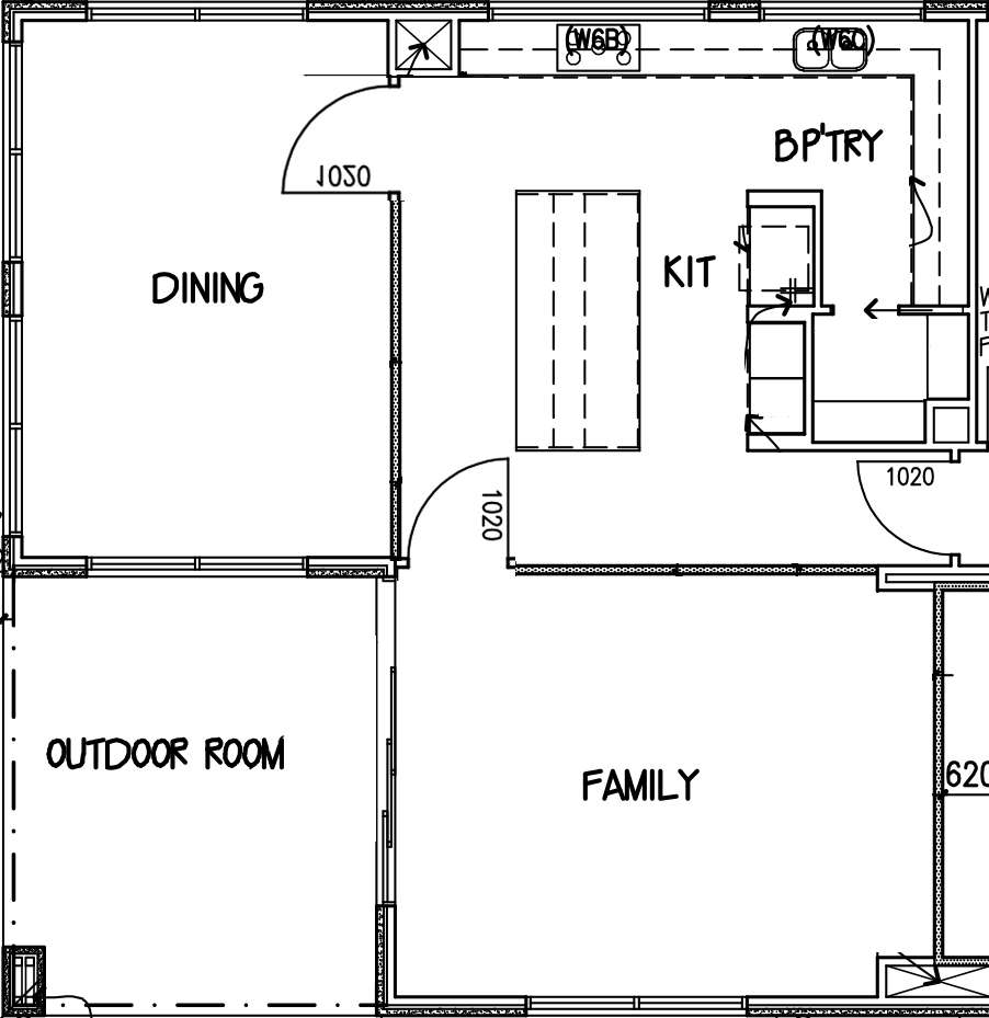 living dining areas diagram