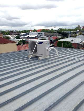 outdoor unit on roof